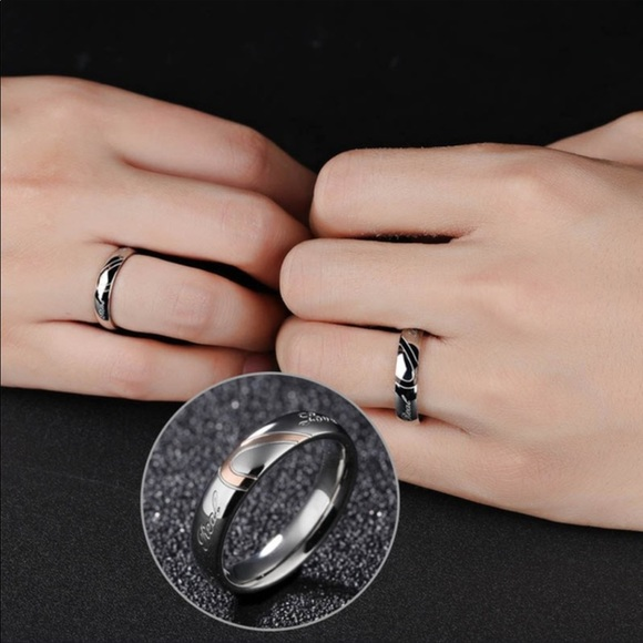 24a3acb815 Jewelry | Stainless Steel Real Love Couples Rings Nwt 810 | Poshmark